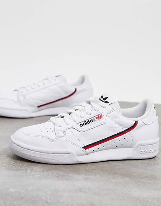 Zapatillas en blanco y rojo Continental 80 de adidas Originals