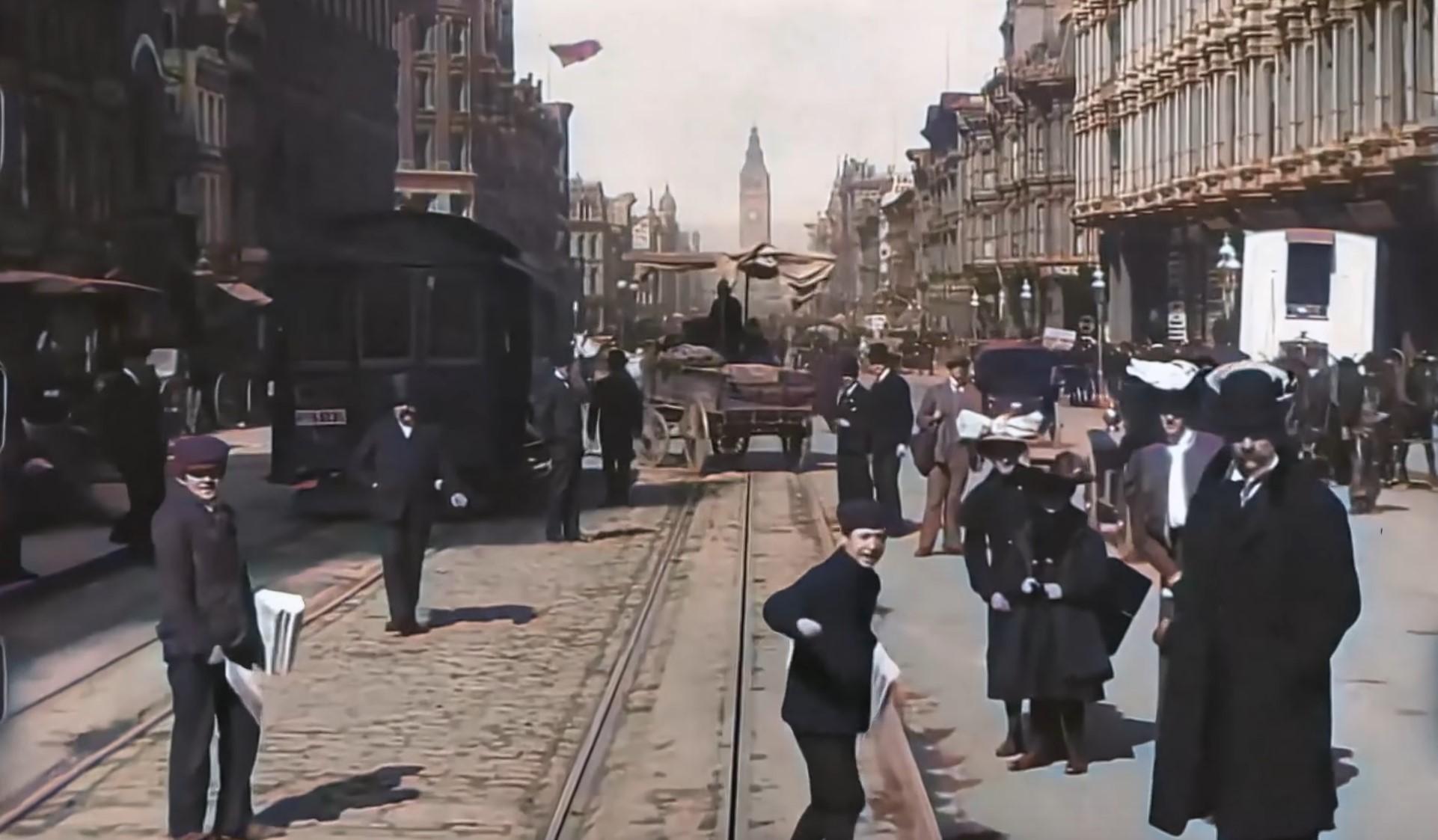 Una de las aplicaciones más espectaculares de la IA en todo su esplendor: así es como vídeos con más de 100 años parecen grabados ahora
