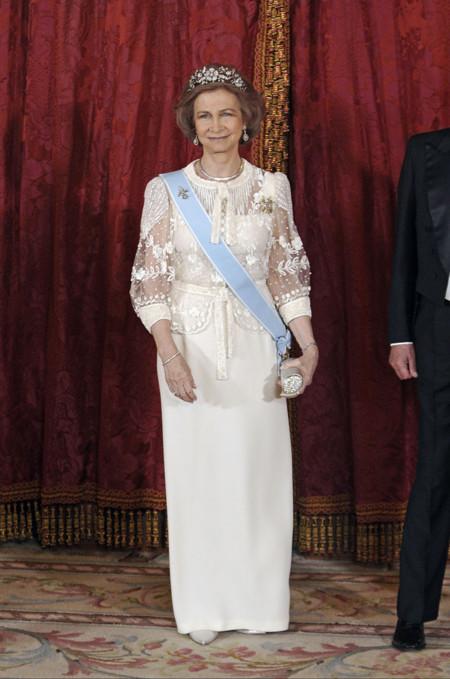La reina Doña Sofía en la recepción de la Presidenta de India (2009)