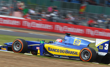 Felipe Nasr GP2 Silverstone 2014
