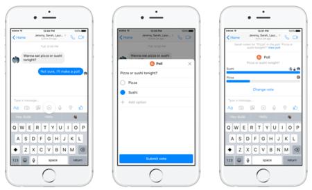 Facebook Messenger se actualiza y ahora permitirá hacer encuestas en chats grupales