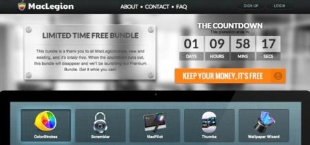 MacLegion, un pequeño conjunto de aplicaciones totalmente gratuito por tiempo limitado
