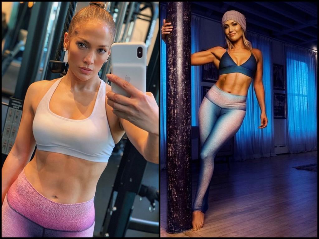 50 años y en plena forma: así es como Jennifer López entrena en el gimnasio