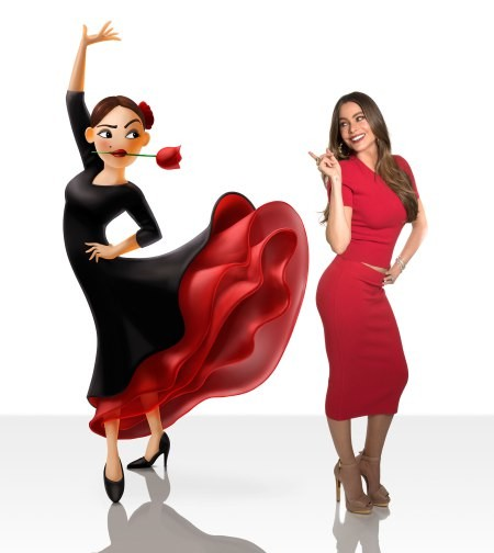 sofia vergara flamenca look estilismo outfit premiere