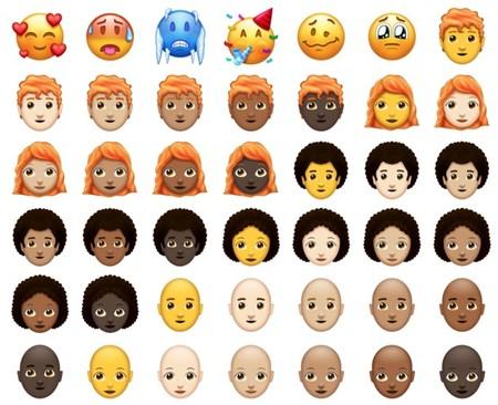 Así lucen los emojis con pelo rojo
