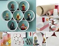 Una bonita idea decorativa y ahorradora para adornar tu pared con tubos de cartón