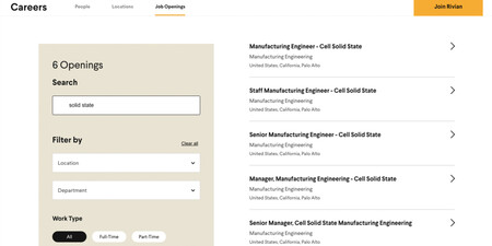 Rivian Careers Page