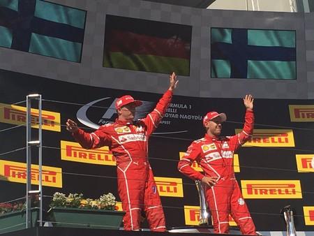 Vettel lidera el doblete de Ferrari en el GP de Hungría de F1. Alonso es sexto con la vuelta rápida