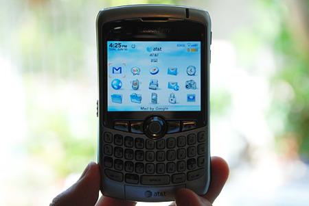 Blackberry con HSDPA y quizás con pantalla táctil