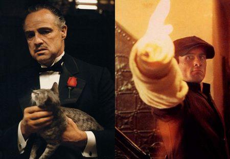 Brando y De Niro como Vito Corleone