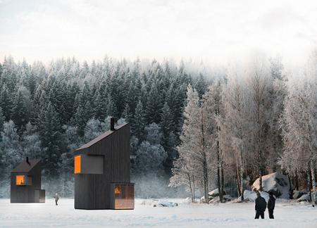 Un acogedor y minúsculo refugio de invierno