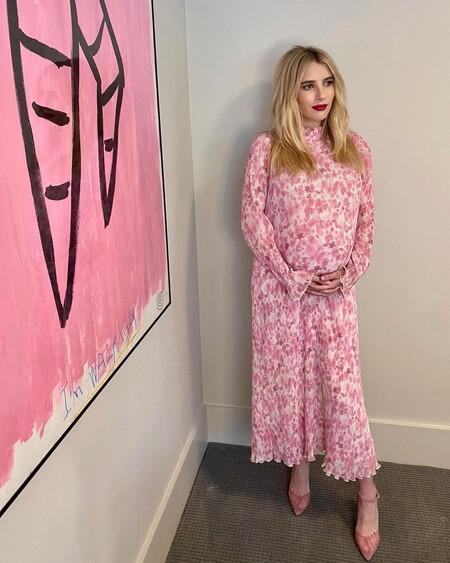 emma roberts look premama embarazada