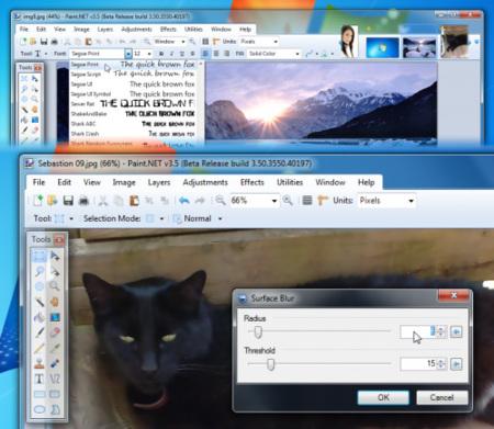 Paint.NET 3.5 Beta: más rápido, más ligero, más bonito