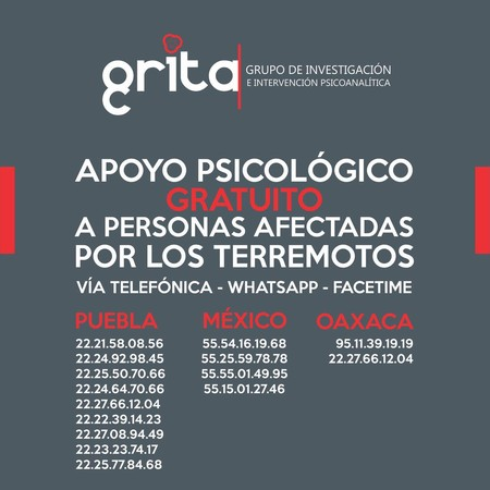 Apoyo Spicologico Sismo Ciudad De Mexico 2017