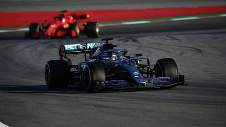Hamilton Leclerc Montmelo F1 2020