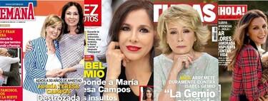 El fuerte temporal de Isabel Gemio y la plenitud de Mar Flores: estas son las portadas de la semana del 13 de enero