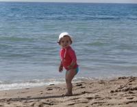 La foto de tu bebé: Rebeca de vacaciones