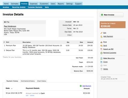 Nuevas Mejoras En Zoho Invoice Programa De Facturación Online - Como hacer un invoice de trabajo