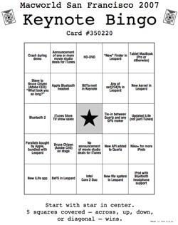 Keynote Bingo Generator: Tus cartones sobre la keynote del martes, generados aleatoriamente