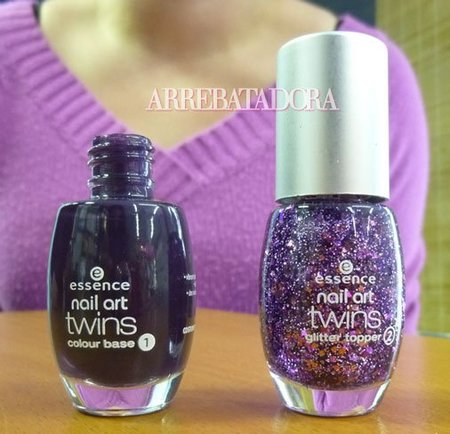 Essence nail art Twins, dos esmaltes de uñas a juego que cunden como 3. Los resultados