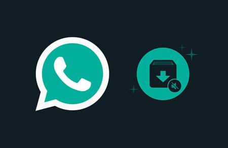 El logo de WhatsApp junto al icono de conversaciones archivadas