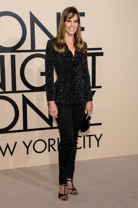 Hilary Swank en la fiesta One Night Only de Giorgio Armani en Nueva York, Octubre 2013