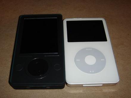Zune e iPod, cara a cara