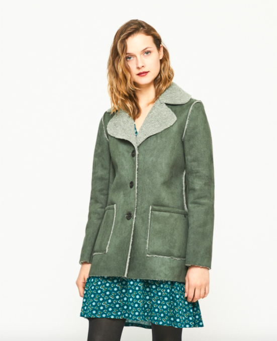 Abrigo verde Surkana