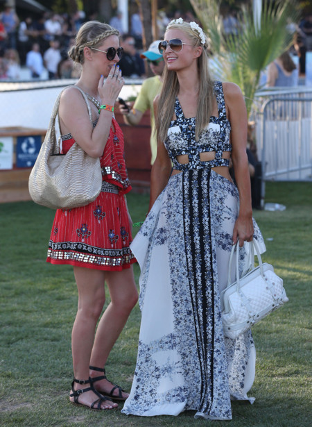 Nicky Hilton y Paris Hilton Coachella 2014