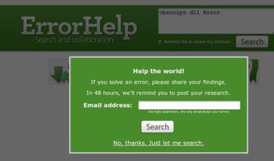 ErrorHelp, buscador de errores para tu sistema operativo