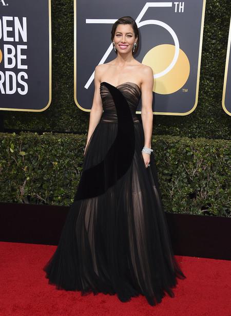 Alfombra Roja Globos De Oro 2018 Jessica Biel Dior