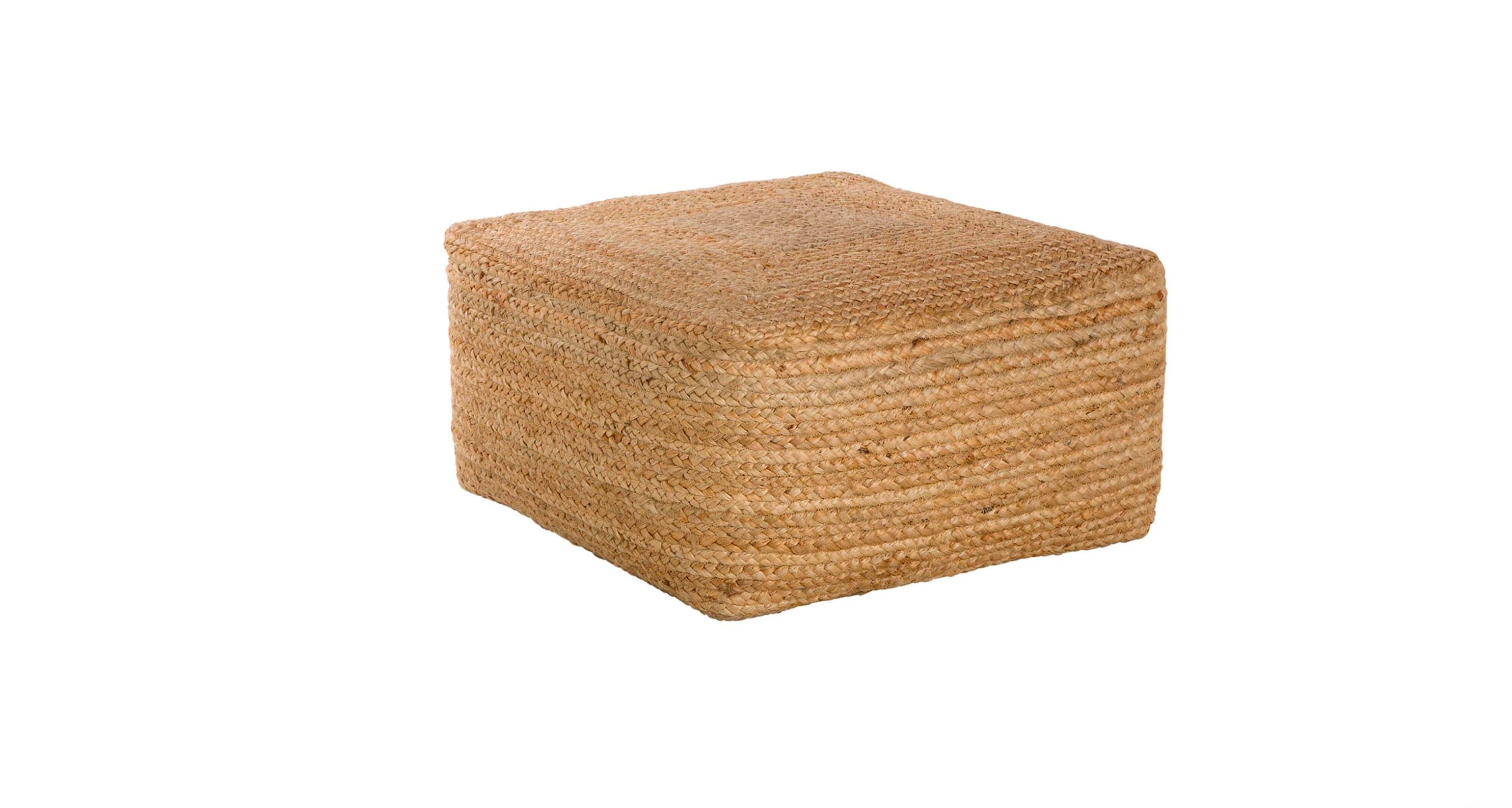 Puf rectangular Yute El Corte Inglés