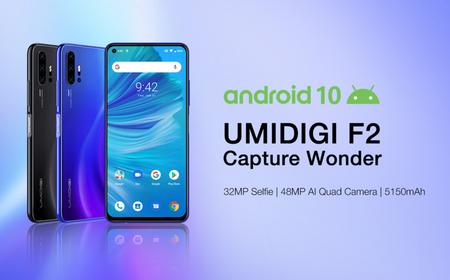 Umidigi F2: cuatro cámaras con macro a dos centímetros y más de 5.000 mAh con Android 10