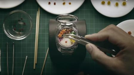 Quien quiere un reloj inteligente cuando podemos tener un reloj que tenga comida