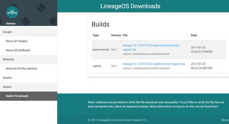 Ya puedes descargar las primeras ROM de LineageOS oficiales