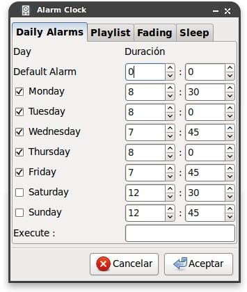 Convierte tu reproductor de música en un funcional despertador