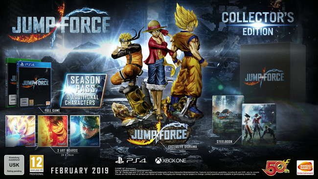 Jump Force fija su lanzamiento en febrero, presenta su espectacular edición de coleccionista y pone fecha a su beta [TGS 2018]