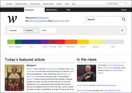 Una nueva forma de ver la Wikipedia. La imagen de la semana