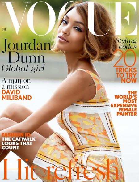 Jourdan Dunn Vogue Uk February 2015 Cover