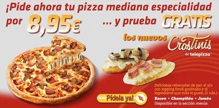 Prueba gratis los nuevos crostinis de Telepizza