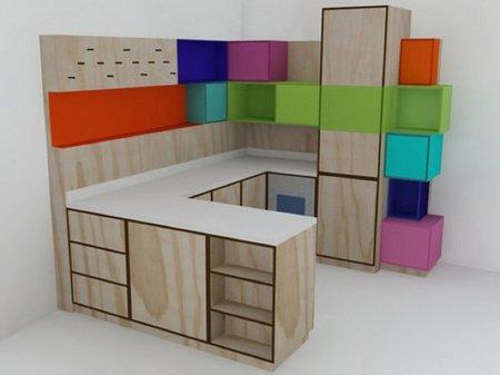 La alegría de una cocina multicolor