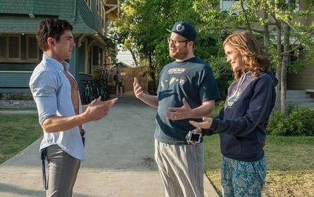 Zac Efron, Seth Rogen y Rose Byrne en