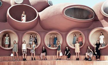 Cielo, mar y tierra, del sur de Francia, se fusionan en la impresionante Colección Crucero 2016 de Christian Dior
