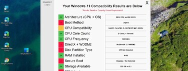 WhyNotWin11 es una app gratis, muy visual y de código abierto que avisa de los requisitos que no cumple tu PC para usar Windows 11