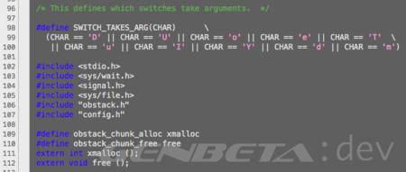 En busca de un estándar entre lenguajes y arquitecturas, ¿de dónde es este código?
