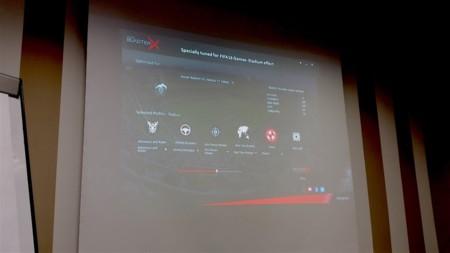 Detalle de uno de los perfiles de audio del software de Creative BlasterX Acoustic Engine