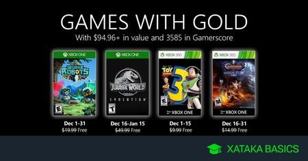 Juegos de Xbox Gold gratis para Xbox One y 360 de diciembre 2019