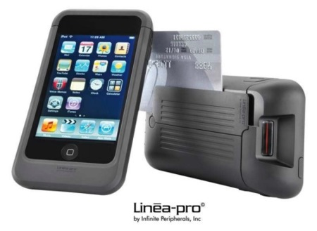 Linea-pro más iPod touch, terminal portátil de venta usado en las Apple Store