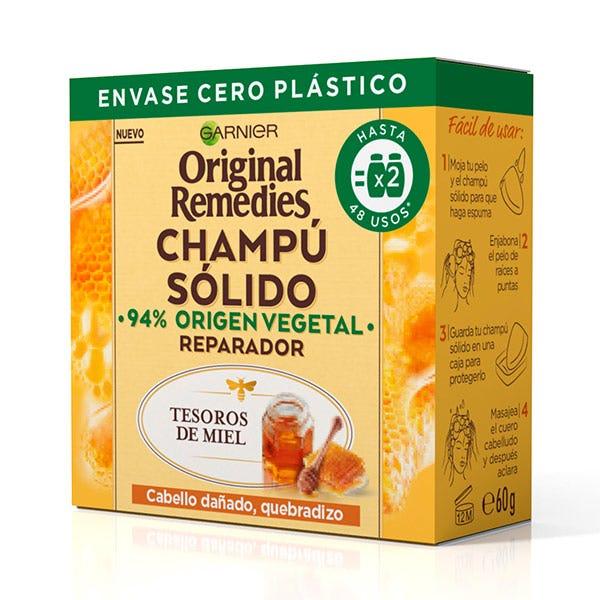 Champú Sólido Reparador | 60GR Champú para Cabello Dañado, Quebradizo ORIGINAL REMEDIES