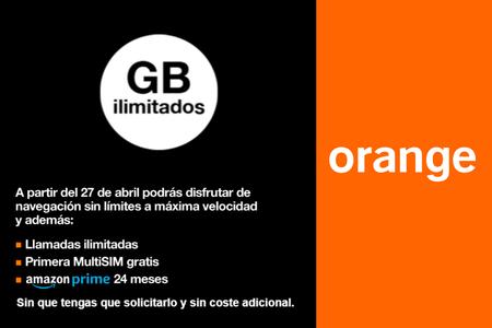Orange extenderá los gigas ilimitados a las tarifas de sólo móvil, desde 36 euros